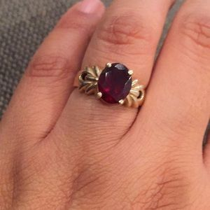 Jewelry - Gold Ring with Garnet Stone